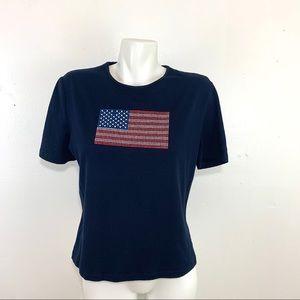 St. John sport American flag embellished T-shirt